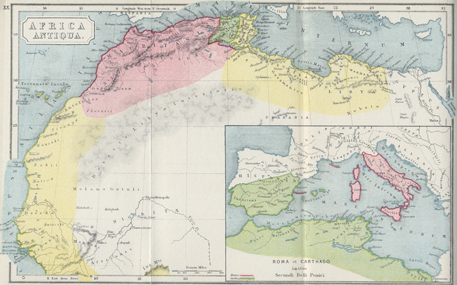 Map of Ancient North Africa