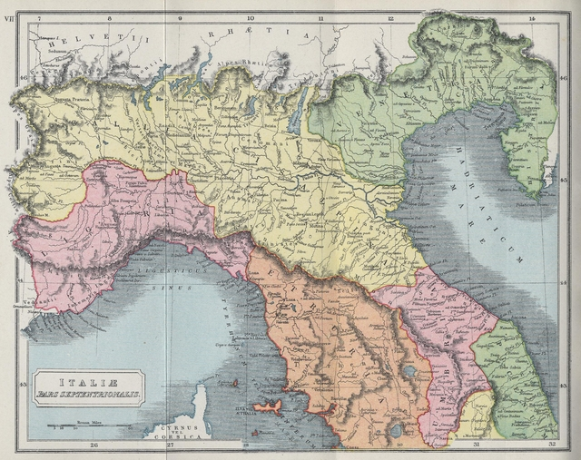 Map of northern italy during roman era click here for larger image